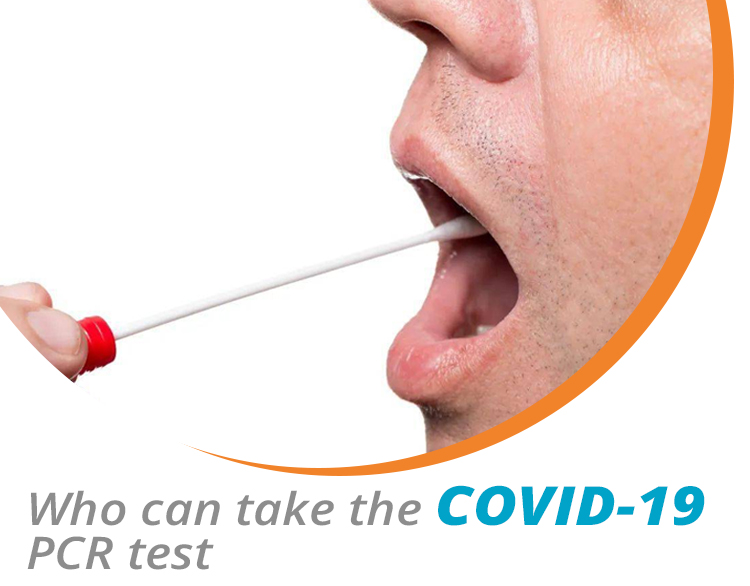Who can take the COVID-19 PCR test for travel